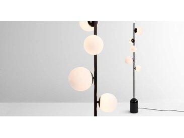 Vetro Stehlampe, Schwarz und Milchglas