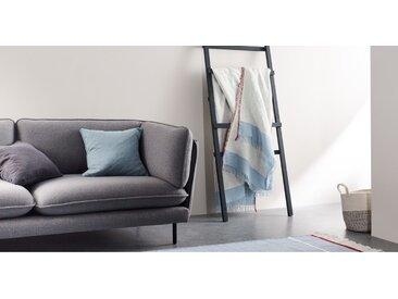Elke Decke (130 x 170 cm),  Blau und Rot