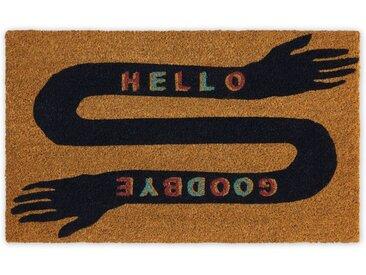 Hello Goodbye Fussmatte (45 x 75 cm), Mehrfarbig