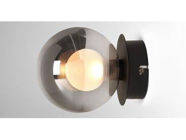 Masako LED-Wandlampe, Milchglas und Rauchglas