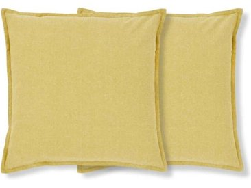 MADE Essentials Elvin 2 x Kissen (45 x 45 cm), Chartreuse
