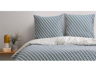 Prism 100 % Baumwolle Bettwaescheset (155 x 220 cm), Blaugruen und Grau