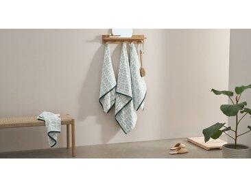 Oporo 2-tlg. Handtuch-Set aus 100 % Baumwolle, Gruen