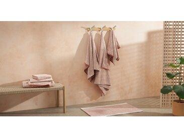 Hanno 2-tlg. Badelaken-Set aus 100 % Bio-Baumwolle, Paprikarot