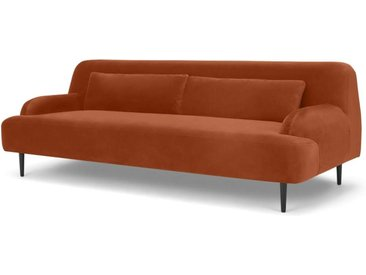 Giselle 3-Sitzer Sofa, Samt in Dunkelorange
