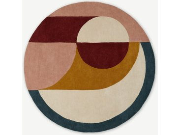Bascome runder Teppich (o 2 m), Mehrfarbig