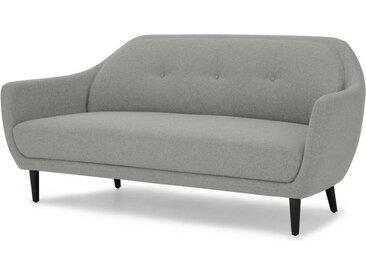 Hanley 3-Sitzer Sofa, Felsengrau und Schwarz