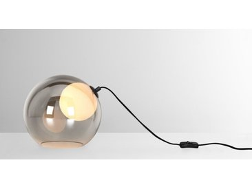 Masako LED-Tischlampe, Glas und Rauchglas