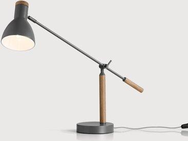 Cohen Tischlampe, Tiefgrau und amerikanische Eiche
