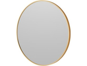 Parton runder Spiegel (o 60 cm), gebuerstetes Messing