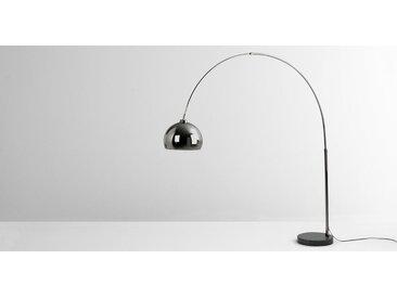 Bow Bogenlampe, dunkler Nickel und Marmor