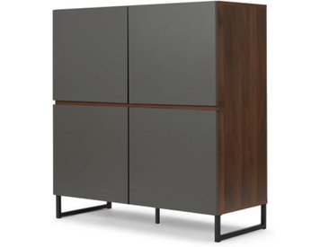 Hopkins Highboard, Walnuss-Finish-Finish und Grau