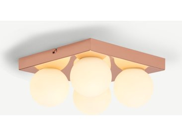 Apollo LED-Badleuchte, Kupfer und Milchglas