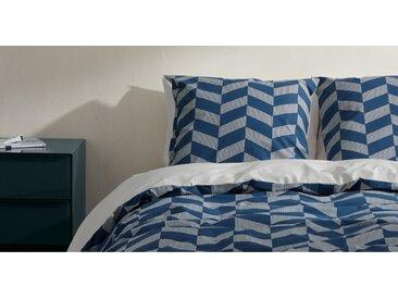 Otis Bettwaescheset (135 x 200 cm) aus 100 % Baumwolle, Nachtblau