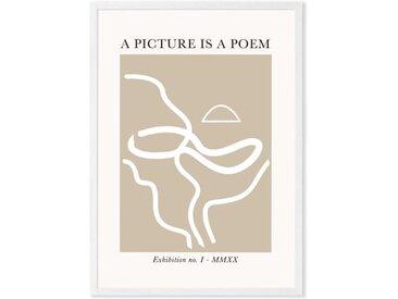 Graphic Art Poster by Flower Love Child gerahmter Kunstdruck (A3), Mehrfarbig