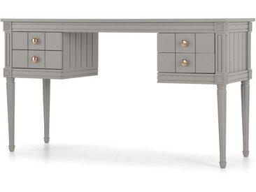 Bourbon Schreibtisch, Kupfer und Grau