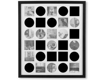 Alois Bilderrahmen mit Passepartout fuer 30 Bilder, Schwarz