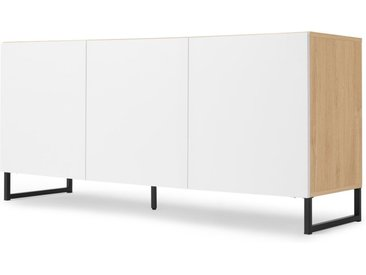 MADE Essentials Hopkins grosses Sideboard, Eichen-Finish und Weiss