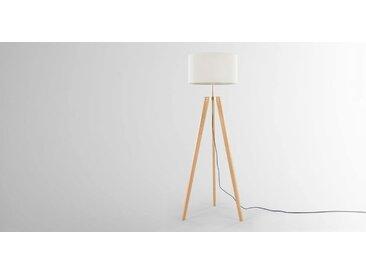 Irvin Tripod-Stehlampe, Holz und Weiss