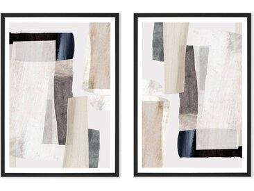 Clay by Dan Hobday 2 x gerahmte Kunstdrucke (A3), Neutral