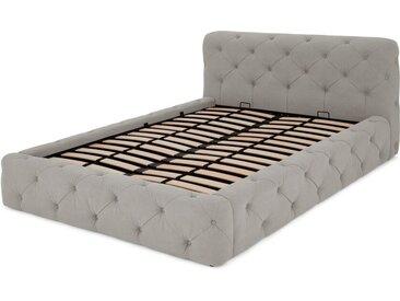 Sloan Polsterbett mit Bettkasten (160 x 200 cm), Grau