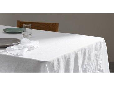 Faro Tischdecke (160 x 240 cm) aus 100 % Leinen, Weiss
