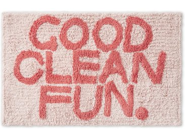 Good Clean Fun Badematte aus 100 % Baumwolle, Rosa