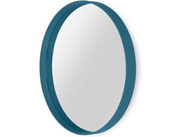MADE Essentials Bex grosser runder Spiegel (o 76 cm), Blaugruen