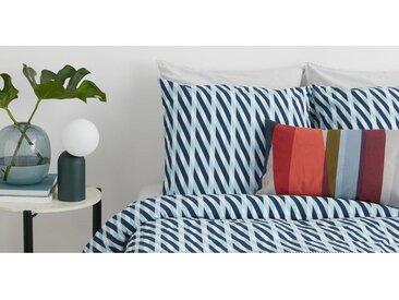 Samira 100 % Baumwolle Bettwaescheset (155 x 220 cm), Blau DE