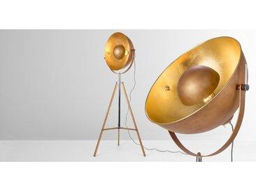 Chicago Tripod-Stehlampe, Kupfer und Gold