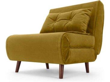 Haru Schlafsessel, Samt in Vintage-Gold