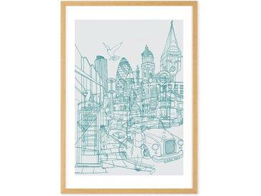 London Illustration, mit Rahmen A1 (59 x 84 cm)