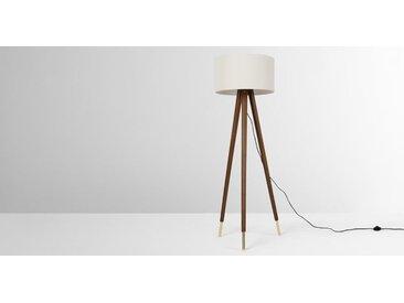 Bree Tripod-Stehlampe, dunkles Holz und Weiss