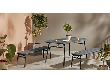MADE Essentials Tice Garden Dining Bench set, Grey