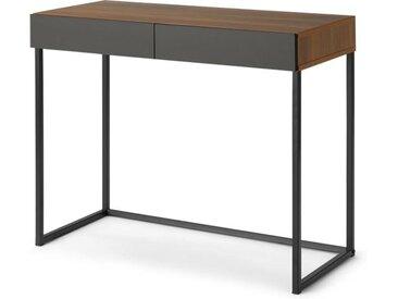 Hopkins Schreibtisch, Walnuss-Finish und Grau