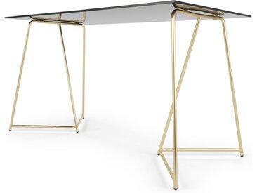 Patrizia Schreibtisch, Messing und Glas