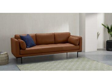 Harlow 3-Sitzer Sofa, Leder in Honigbraun