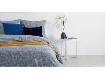 Fleck 100 % Baumwolle Bettwaescheset (135 x 200 cm), Nachtblau