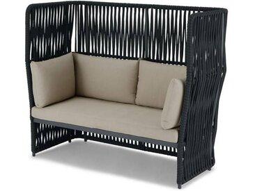 Dalat 2-Sitzer Gartensofa, Grau