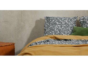 Romilly Bettwaescheset (135 x 200 cm) aus 100 % Baumwolle, Grau und Hellbraun