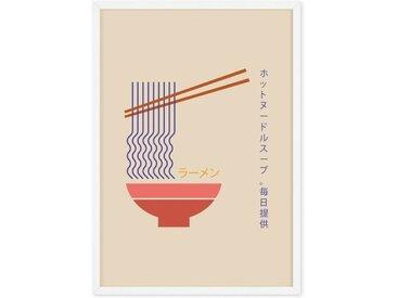 Fresh Noodles Daily gerahmter Kunstdruck (A1), Mehrfarbig