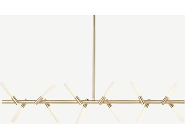 Wanda LED-Pendelleuchte, Antik-Messing