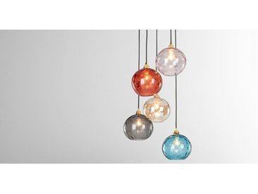 Ilaria Cluster-Pendelleuchte, Messing und mehrfarbiges Glas
