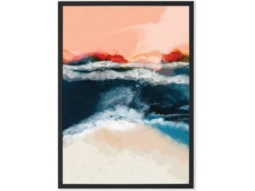 Water World by Ana Rut Bre gerahmter Kunstdruck (A3), Mehrfarbig