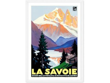 La Savoie Framed Vintage Travel Wall Art Print (More Size Available)