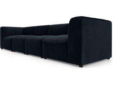 Juno modulares 4-Sitzer Sofa, Samt in Abendblau
