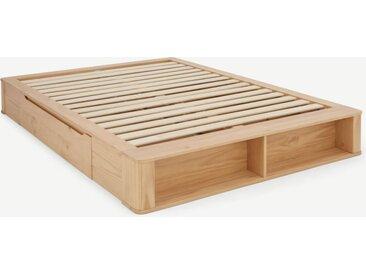 Kano Holzbett mit Stauraum (160 x 200 cm), Pinie