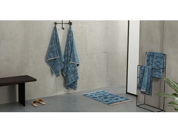 2 x Olga Handtuecher aus 100 % Baumwolle, Aegaeisblau