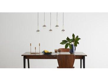 Onyx LED-Pendelleuchte, Glas und Messing in Grau