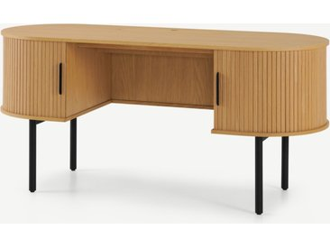 Tambo breiter Schreibtisch, Eiche und Schwarz